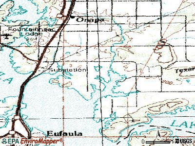 Texanna topographic map