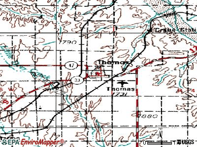 Thomas topographic map