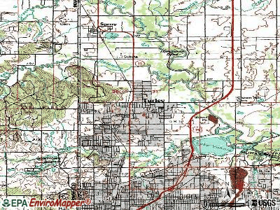 Turley topographic map