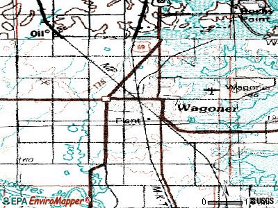 Wagoner topographic map