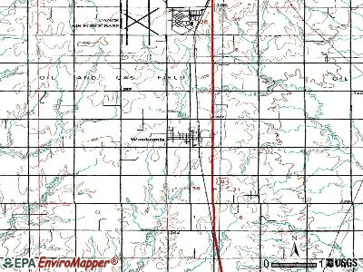 Waukomis topographic map