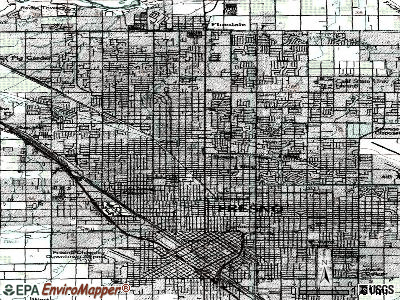 Fresno topographic map