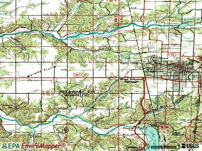 West Siloam Springs topographic map