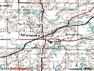 Wetumka topographic map