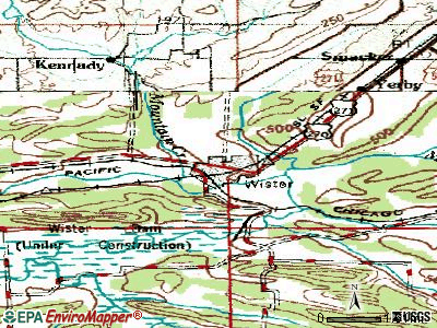 Wister topographic map