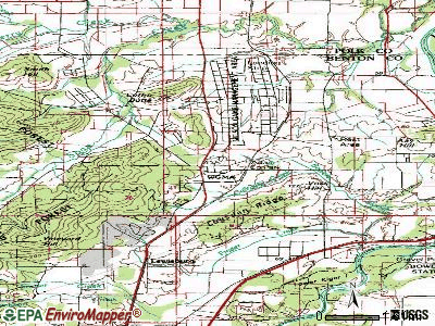 Adair Village topographic map