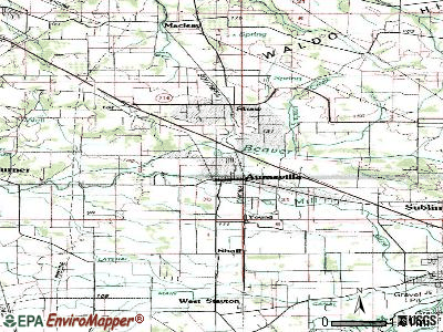 Aumsville topographic map