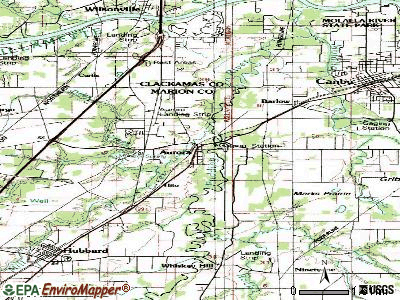 Aurora topographic map