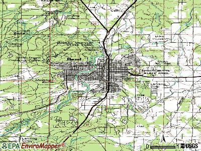 Bend topographic map