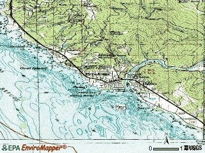 Brookings topographic map