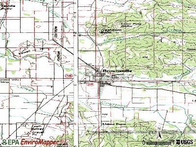 Brownsville topographic map