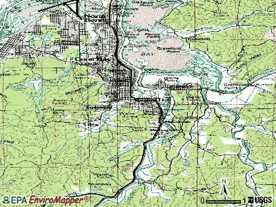 Bunker Hill topographic map