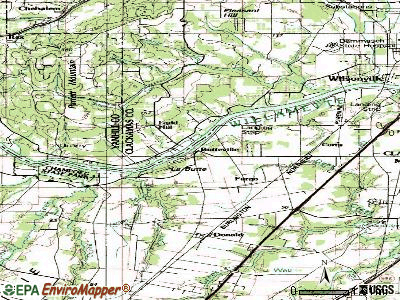 Butteville topographic map