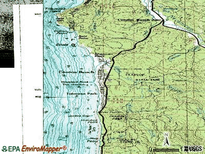 Cannon Beach topographic map