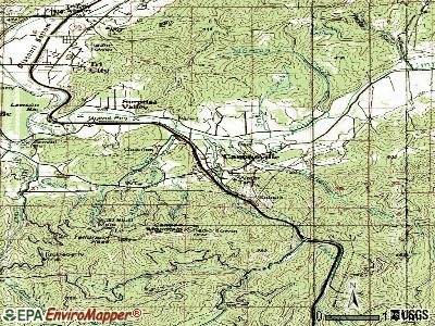 Canyonville topographic map