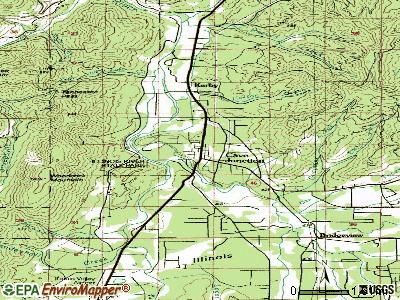 Cave Junction topographic map