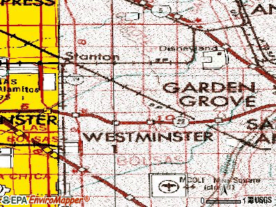 Garden Grove topographic map