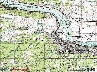 Chenoweth topographic map