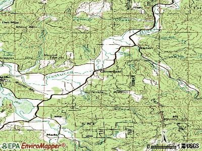 Cloverdale topographic map