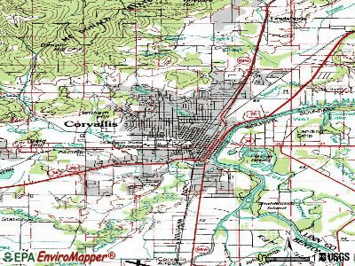 Corvallis topographic map