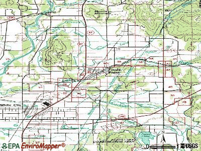 Eagle Point topographic map
