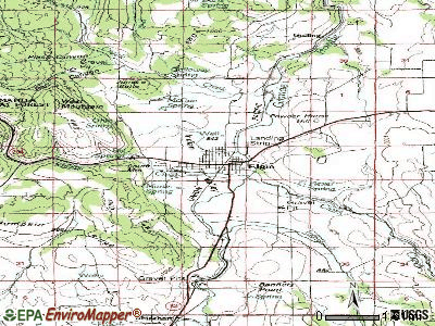Elgin topographic map