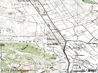 Gilroy topographic map
