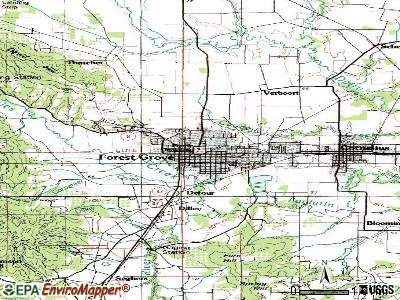 Forest Grove topographic map