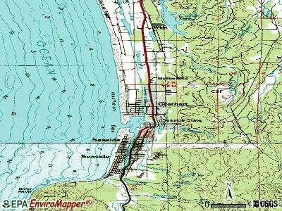 Gearhart topographic map