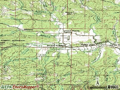 Grand Ronde topographic map