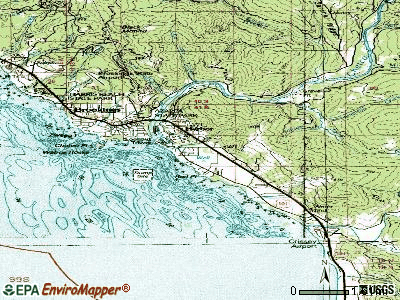 Harbor topographic map