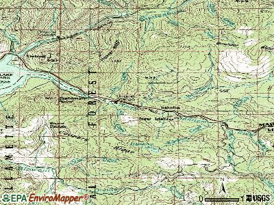 Idanha topographic map