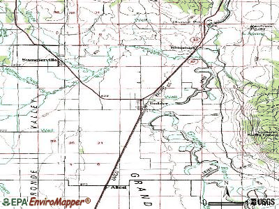 Imbler topographic map