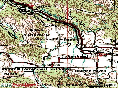 Golden Hills topographic map