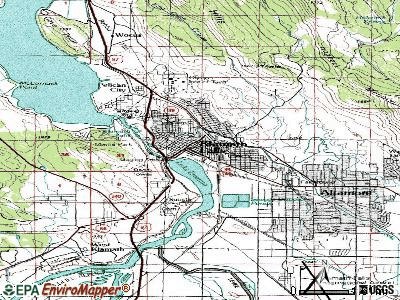 Klamath Falls topographic map