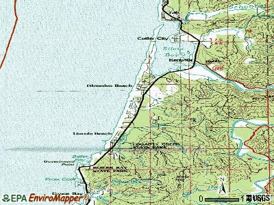 Lincoln Beach topographic map