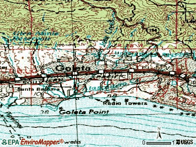 Goleta topographic map