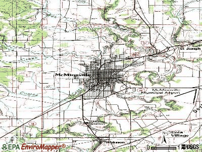 McMinnville topographic map