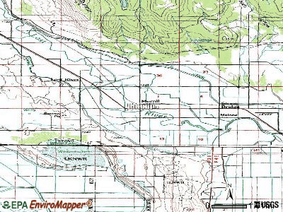 Merrill topographic map