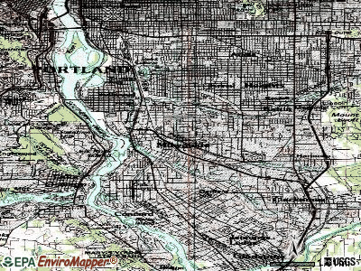 Milwaukie topographic map
