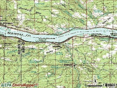 Mosier topographic map