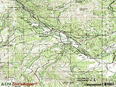 Graeagle topographic map