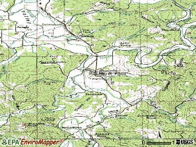 Myrtle Point topographic map