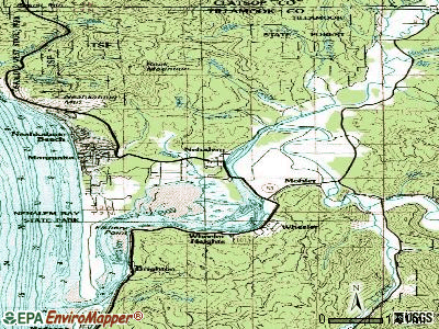 Nehalem topographic map