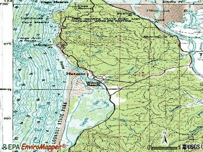 Netarts topographic map