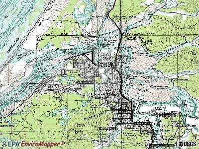 North Bend topographic map