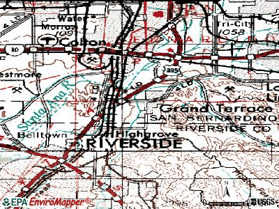 Grand Terrace topographic map