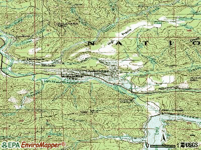 Oakridge topographic map