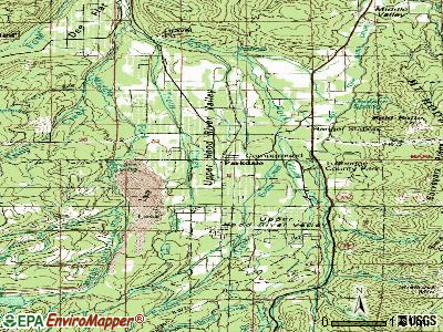 Parkdale topographic map