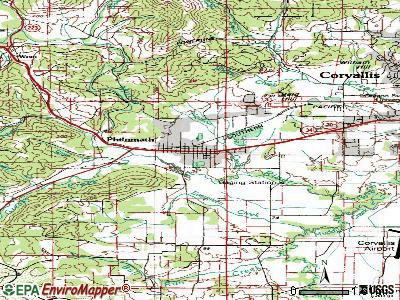 Philomath topographic map
